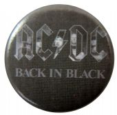 AC/DC - 'Back in Black Group' Button Badge